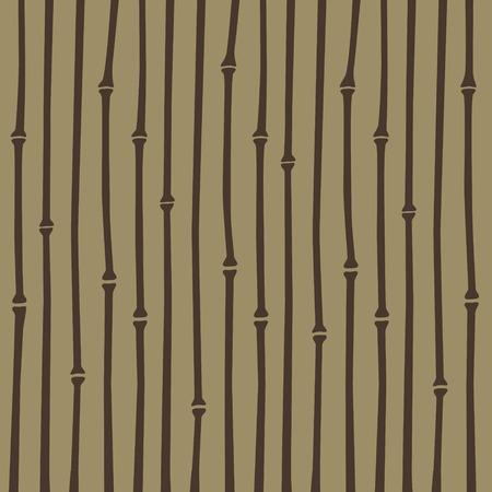 fondo cafe: patr�n de la raya del estilo de bamb� japon�s marr�n en fondo marr�n claro Vectores