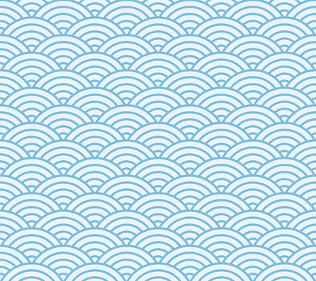 Blue and light blue Japanese style wave pattern