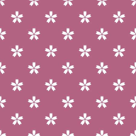 Pink and white Japanese style cherry blossom pattern 일러스트
