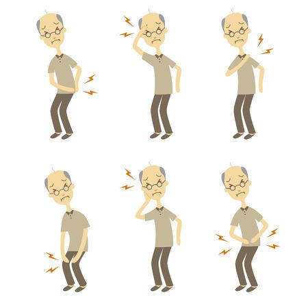 Symptoms and Signs of disease, elderly man