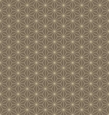 Japanse traditionele hennep blad patroon in bruine achtergrond