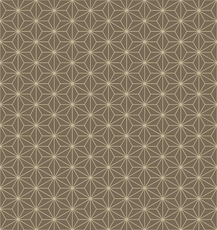japanese traditional hemp leaf pattern in brown background