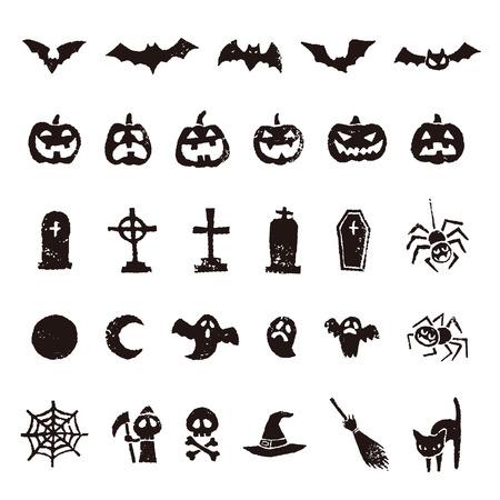 Halloween icon, bat, pumpkin, ghost, spider and moon etc.