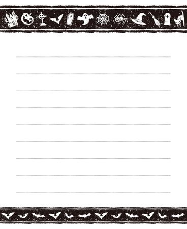 memo pad: Halloween black and white memo pad design