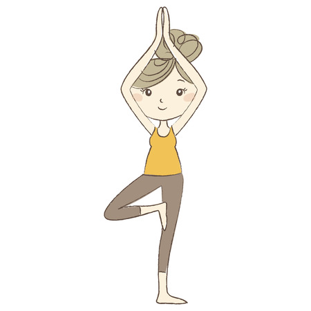 pregnancy exercise: Prenatal Yoga, a pregnant woman in tree pose