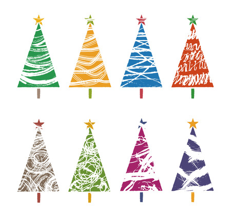 different kind of colorful christmas tree collections graphic elements stock vector 88598479 - Different Kinds Of Christmas Trees