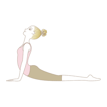 Yoga exercise woman in Cobra Pose