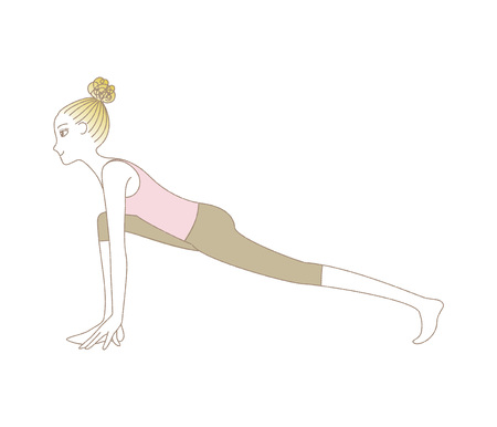 Yoga exercise woman in High Lunge Pose