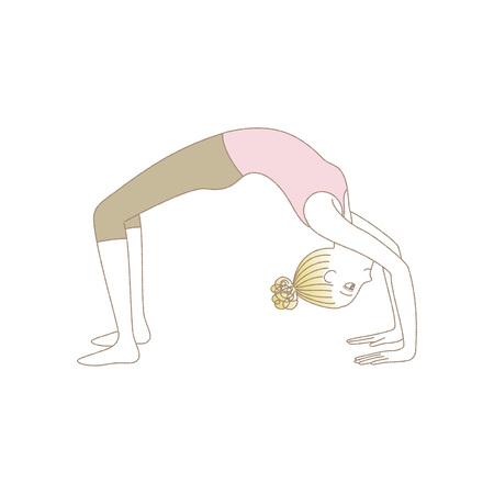 Yoga exercise, yoga pose, woman in Wheel Pose
