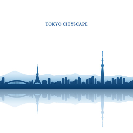 Tokyo Cityscape, Tokyo Tower and Tokyo Skytree, landmarks