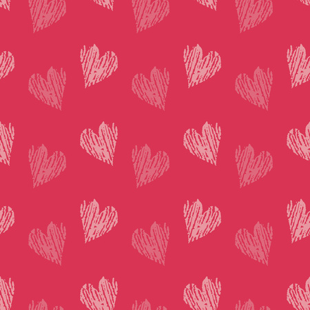 Valentines Day background illustration with hearts  イラスト・ベクター素材