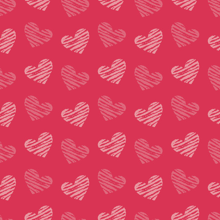 Valentine's Day background illustration with hearts 写真素材 - 126413640
