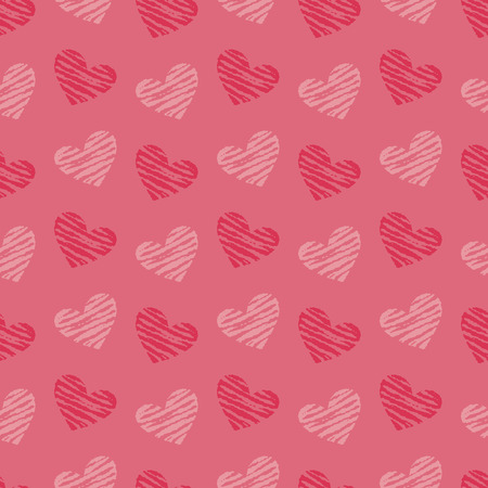 Valentine's Day background illustration with hearts 写真素材 - 126413641
