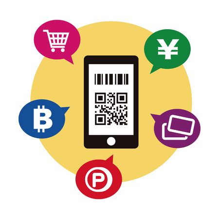 Cashless and Smartphone payment image illustration