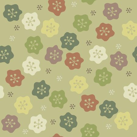 Scandinavian style cute floral pattern with chic color  イラスト・ベクター素材