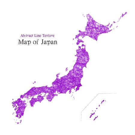 Map of Japan, Abstract line texture, Action line texture Illustration