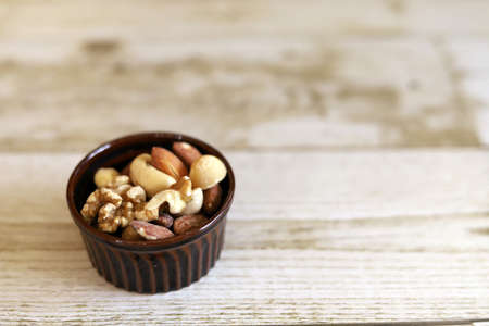 Mixed Nuts in a Cocotte Dish