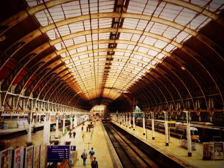 estacion de tren: Estaci�n de tren en Londres