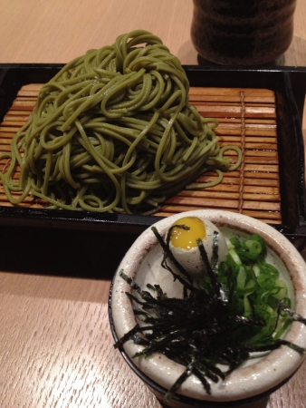 cha: Japanese cold noodle Cha soba with dipping sauce