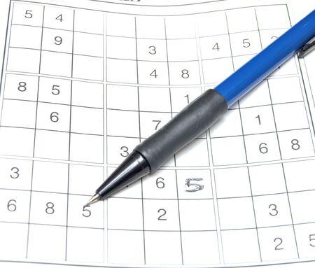 sudoku: Sudoku Stock Photo