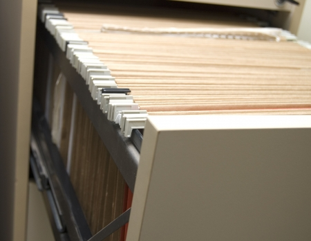 filing cabinet with folders photo