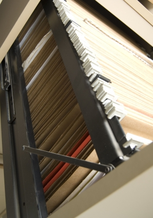 filing cabinet with folders