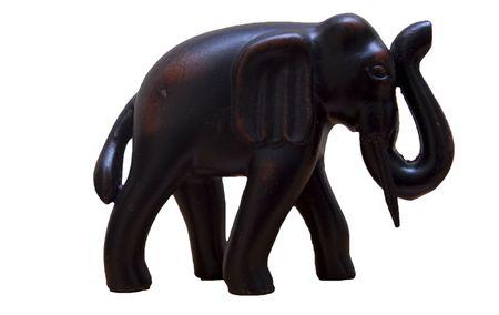 Black elephant figure for decoration