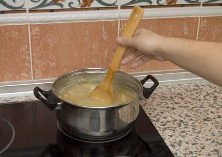 cooking paste Stock Photo