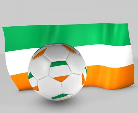 3d Ireland flag ball in white background Stock Photo
