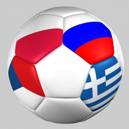 ball flags euro cup 2012 group A photo
