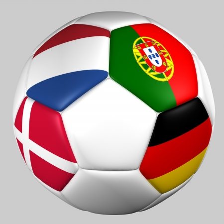 ball flags euro cup 2012 group B photo