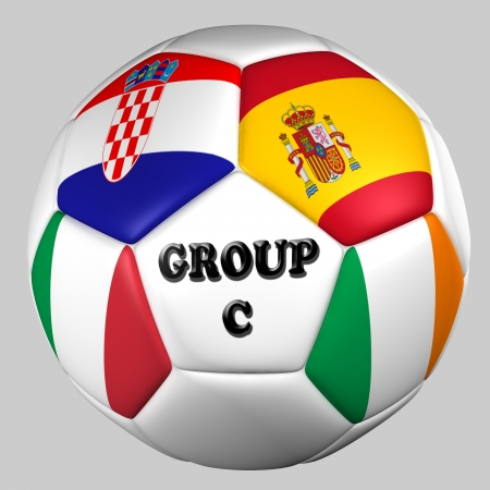 ball flags euro cup 2012 group C Stock Photo
