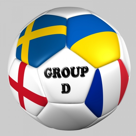 ball flags euro cup 2012 group D