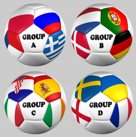 ball flags euro cup 2012 all groups Stock Photo - 14252804