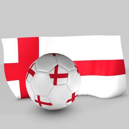 3d england flag ball