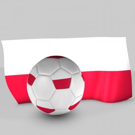3d Poland flag ball