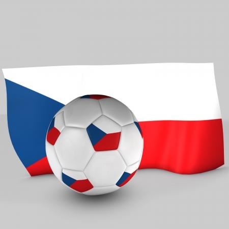 3d Czech Republic flag ball Stock Photo