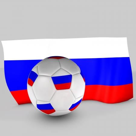 3d Russian flag ball Stock Photo