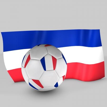 3d France flag ball