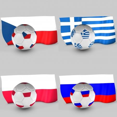 bandiera croazia: 3d Croazia bandiera palla