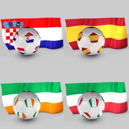 3d Group C flag ball