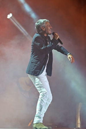 sergio: CORDOBA, SPAIN SEPTEMBER 15: Sergio Dalma during their concert tour Via Dalma II in Córdoba. Córdoba Axerquia Theatre on September 15, 2012 in Córdoba Spain