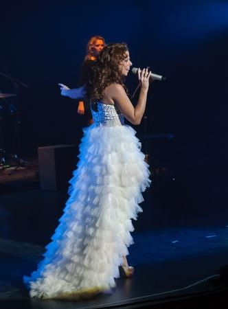 CORDOBA, SPAIN OCTOBER 27: Pastora Soler during their concert tour 2012, held at the Gran Teatro de C�rdoba on October 27, 2012 in C�rdoba Spain Stock Photo - 15986308
