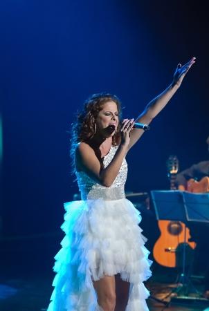 CORDOBA, SPAIN OCTOBER 27: Pastora Soler during their concert tour 2012, held at the Gran Teatro de C�rdoba on October 27, 2012 in C�rdoba Spain Stock Photo - 15986311