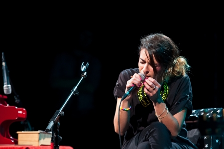 CORDOBA, SPAIN NOVEMBER 2: Bebe during their concert tour 2012, held at the Gran Teatro de Córdoba on november 2, 2012 in Córdoba Spain Stock Photo - 17392826