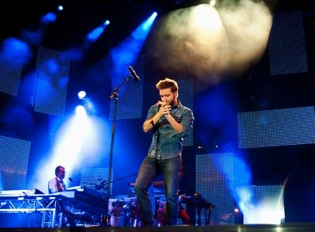 CORDOBA, SPAIN MAY 24:  Pablo Alboran during their concert tour Both in Cordoba.  Fontanar Football field on May 24, 2013 in Cordoba Spain.
