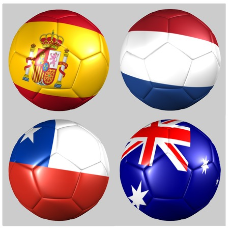 Ball with flags of the teams in Group B