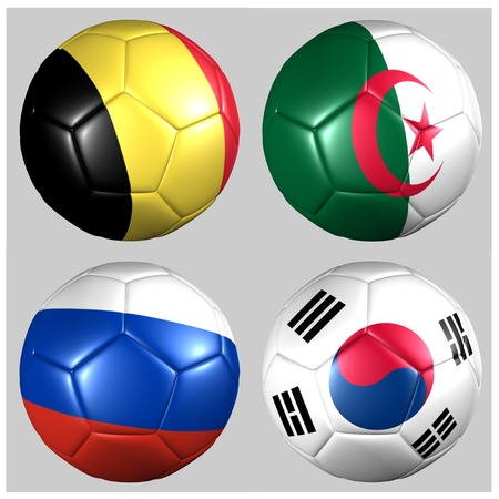 Ball with flags of the teams in Group H