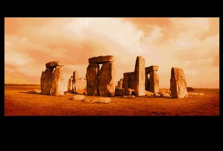 Stonehenge Wiltshire Orange photo