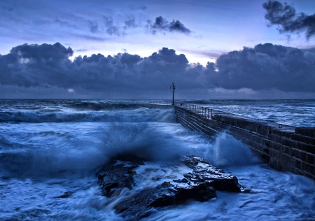 Stormy Blue Sea Stock Photo - 12508784